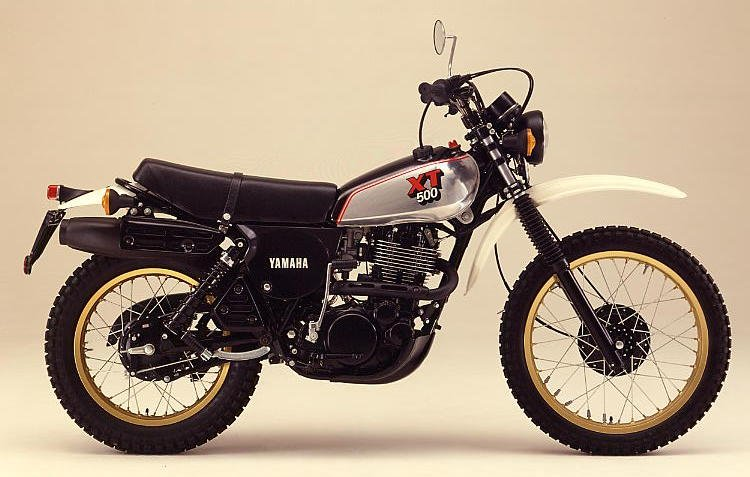 Xt Blk on Yamaha Xt 500 Enduro
